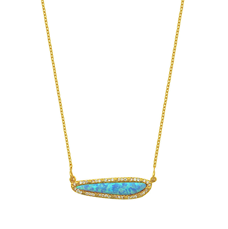 Abstract Opal Necklace