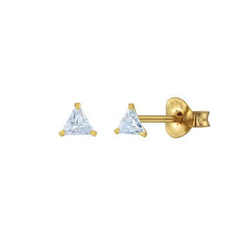 Mini Shining Triangle Stud Earrings