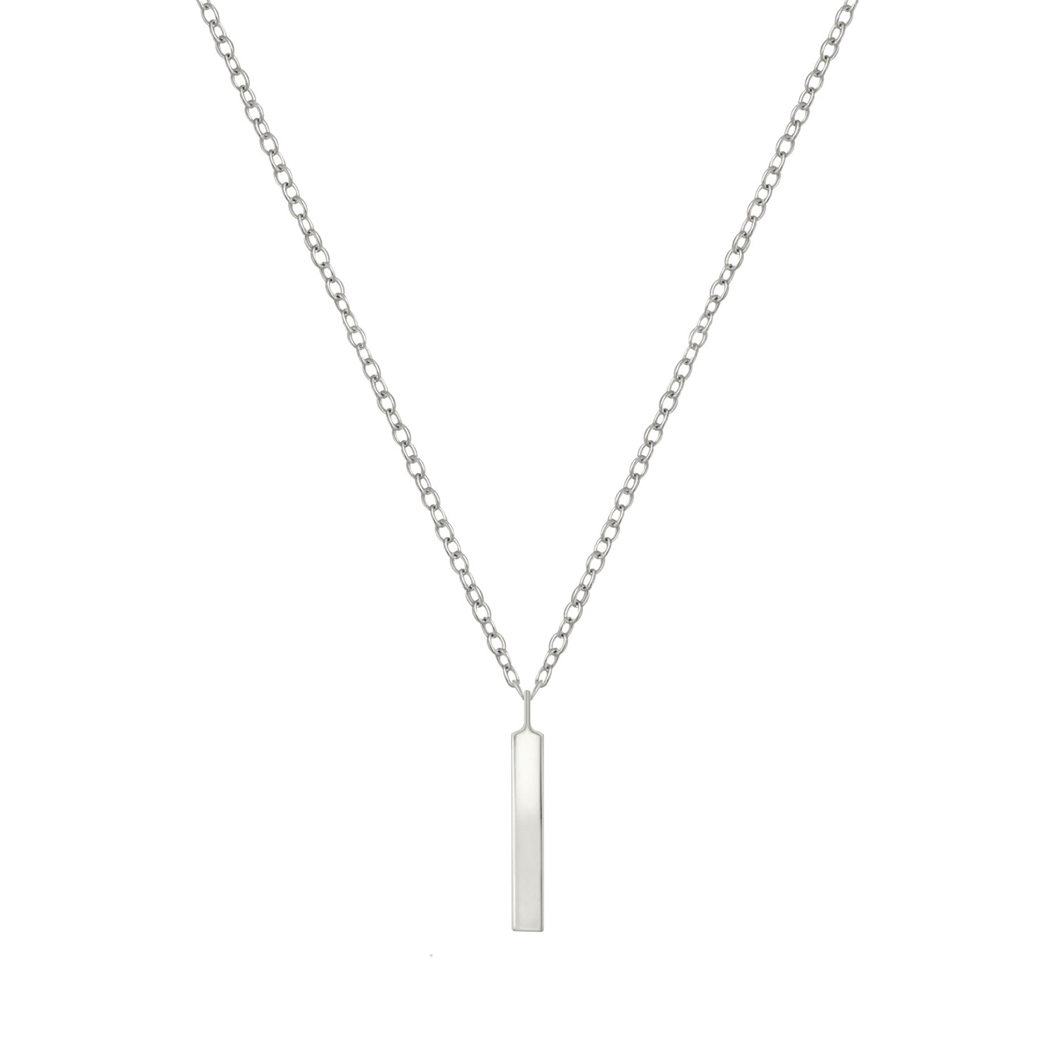 Modern Tiny Bar Necklace