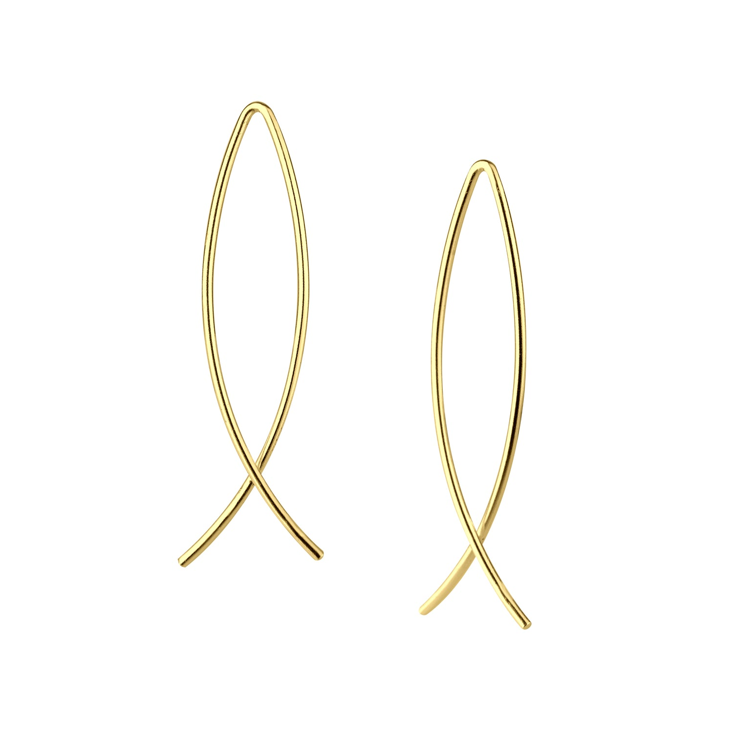 Minimal Wire Thread Earrings