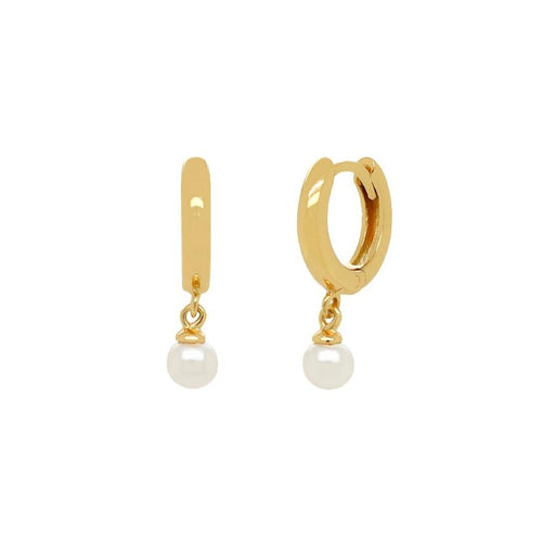 Pearl Huggies Earrings