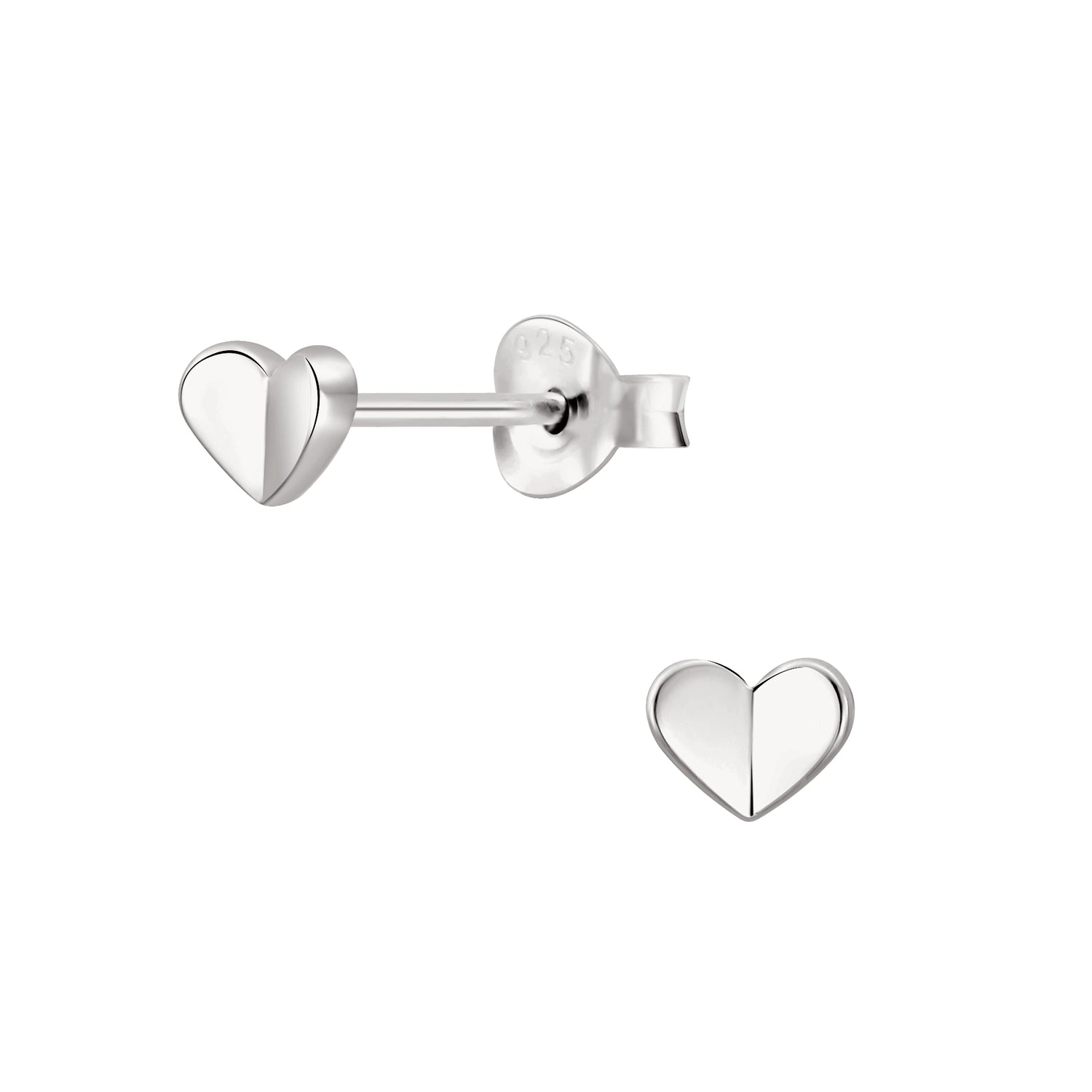Flutter Heart Stud Earrings