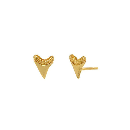 Baby Shark Tooth Stud Earrings
