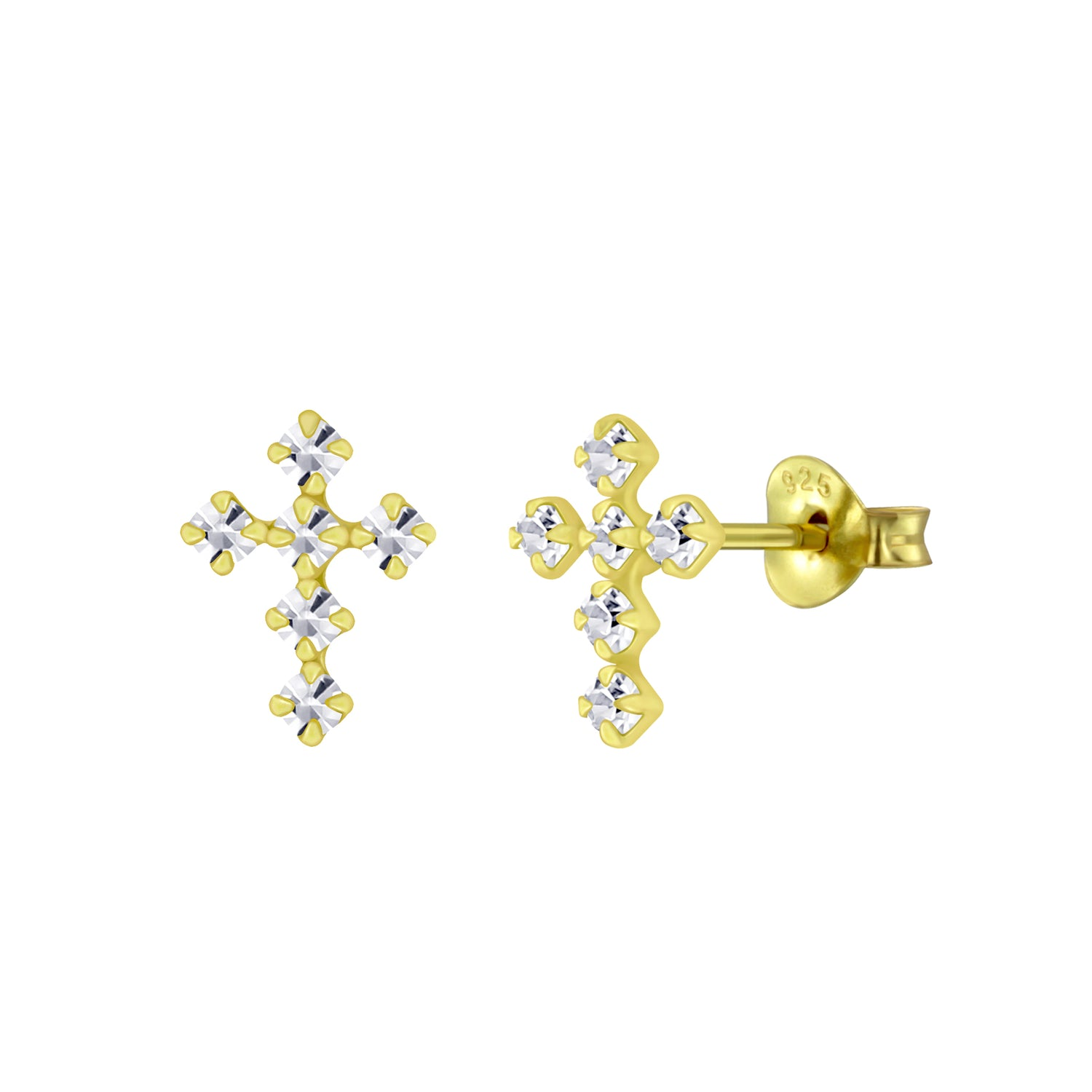 Stunning Cross Stud Earrings