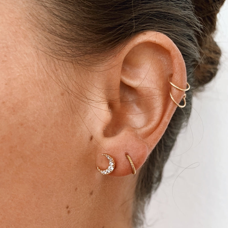 Little Sleeper Hoop Earrings