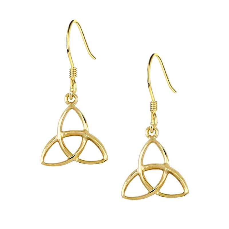 Celtic Tri Drop Earrings