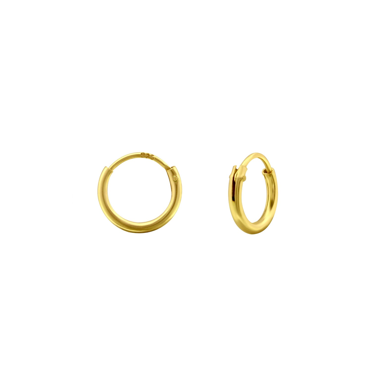 JAMBS JEWELRY 14KT YELLOW GOLD DOUBLE HEART SAFETY EARRINGS FOR CHILDREN