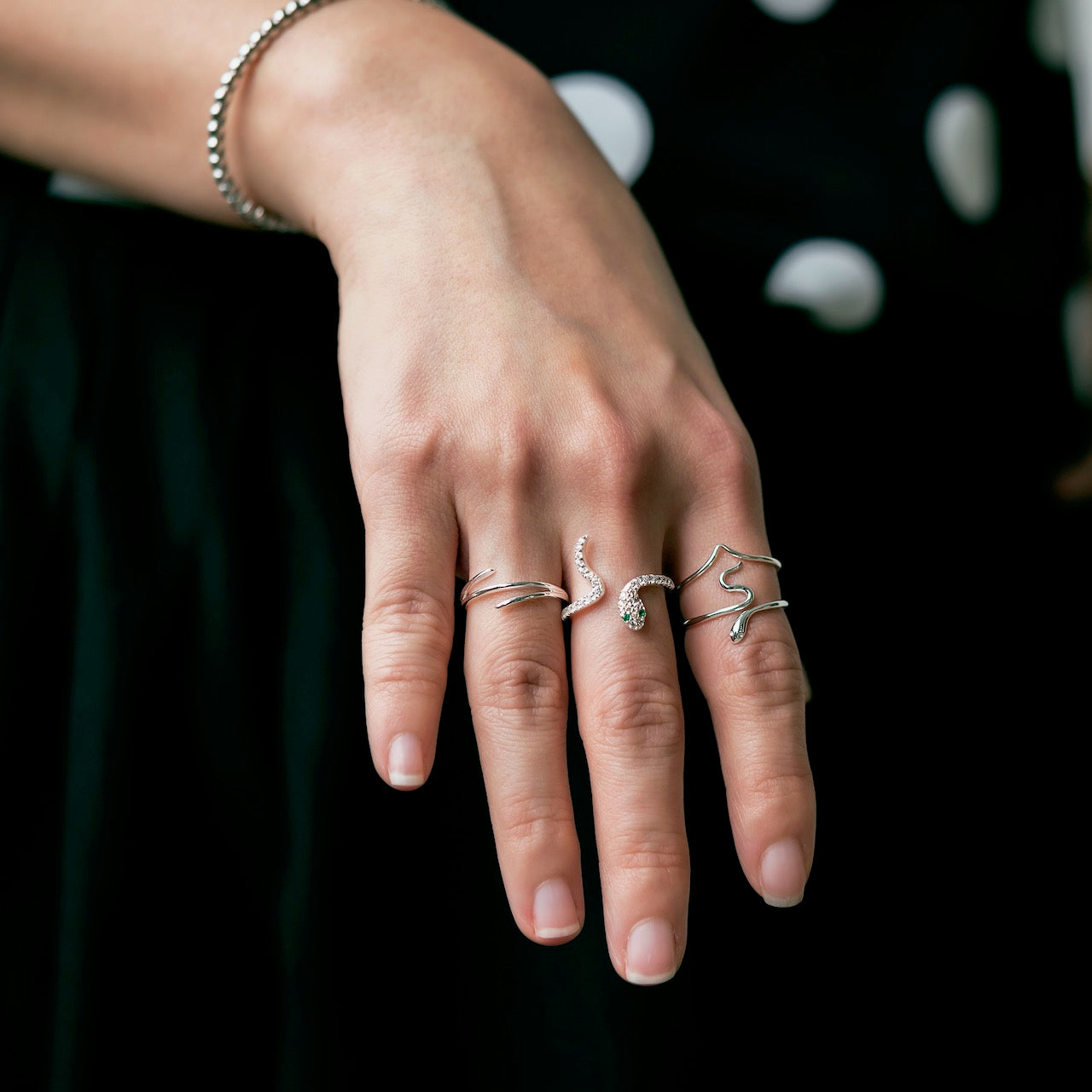 Snake Slither Ring Silver