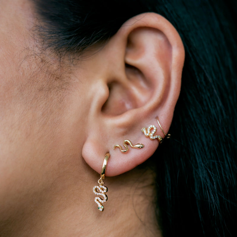 Snake Slither Stud Earrings