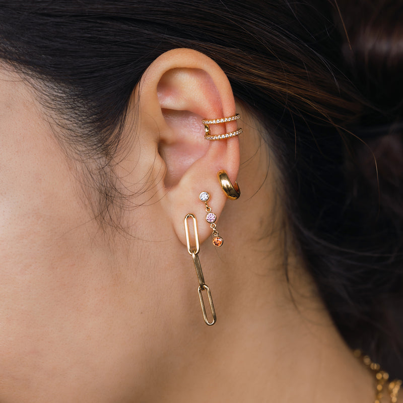Dainty Muse Paper Clip Chain Earrings