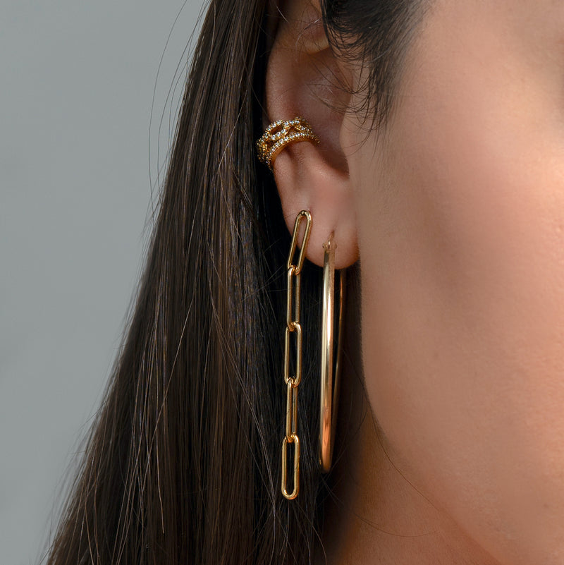 Muse Paper Clip Chain Earrings