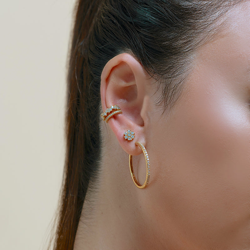 Pave Big Hoop Earrings