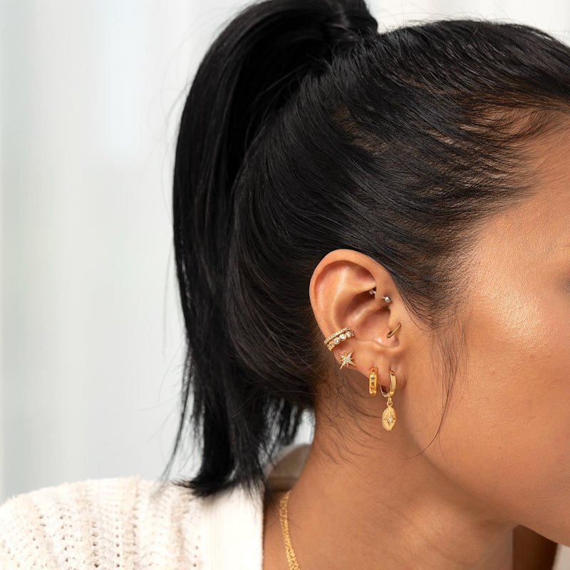 Twinkle Starry Hoop Earrings