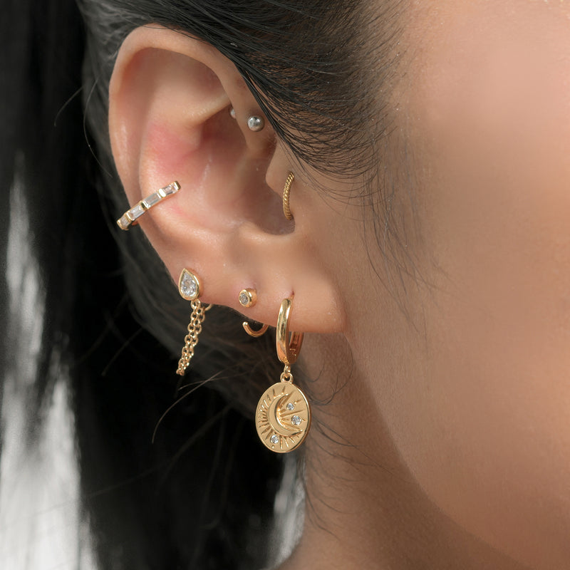 Tarot Moon Hoop Earrings