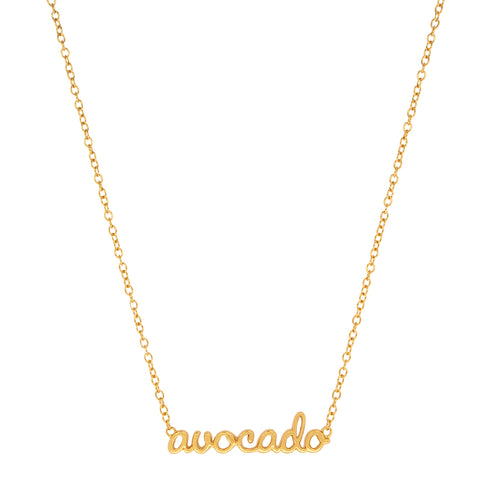 Avocado Script Necklace