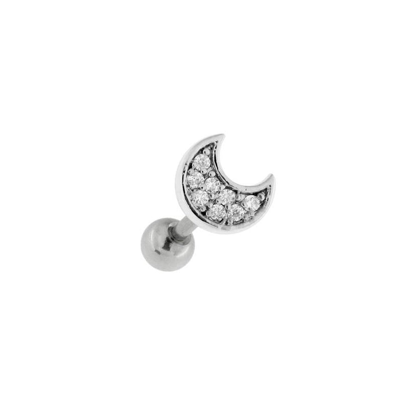 Bling Moon Cartilage Barbell