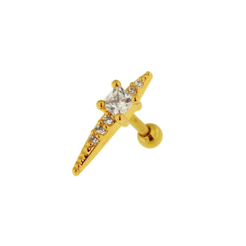 Spike Jewel Cartilage Barbell