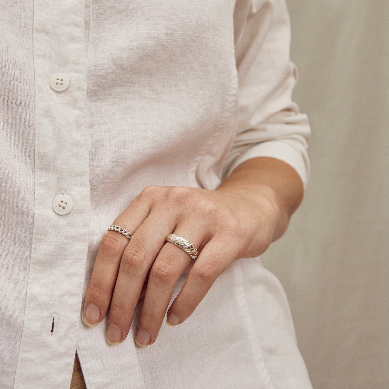 Alexa Dome Ring Silver