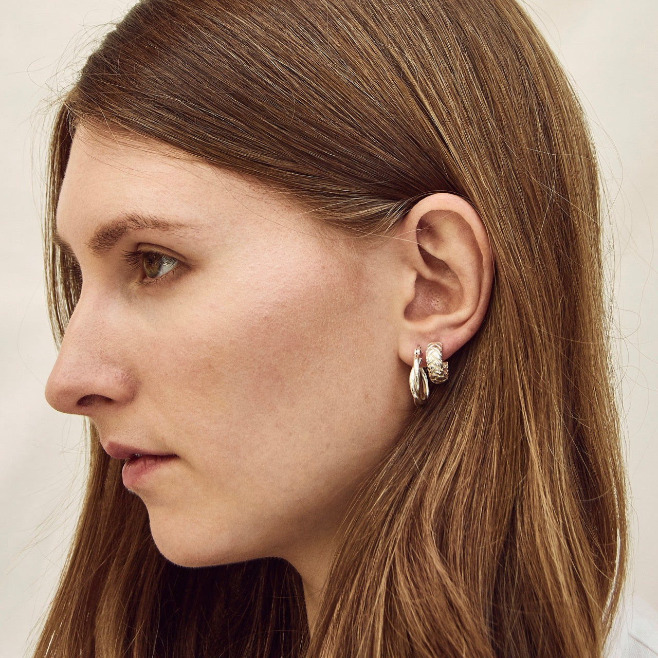 Alexa Dome Hoop Earrings