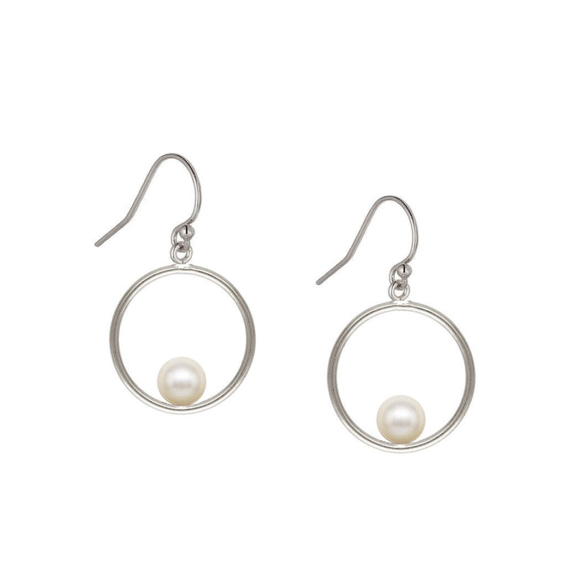 Pearl Halo Drop Earrings