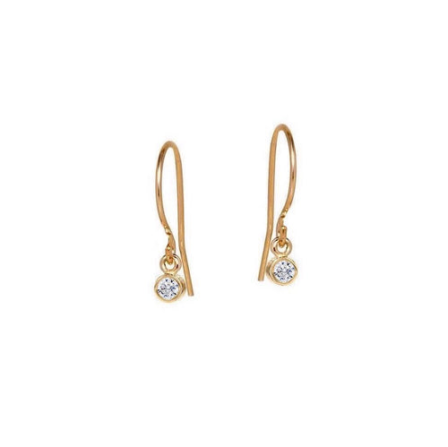 Little Bezel Drop Earrings