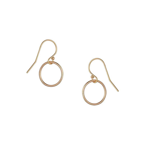Small Circle Drop Earrings