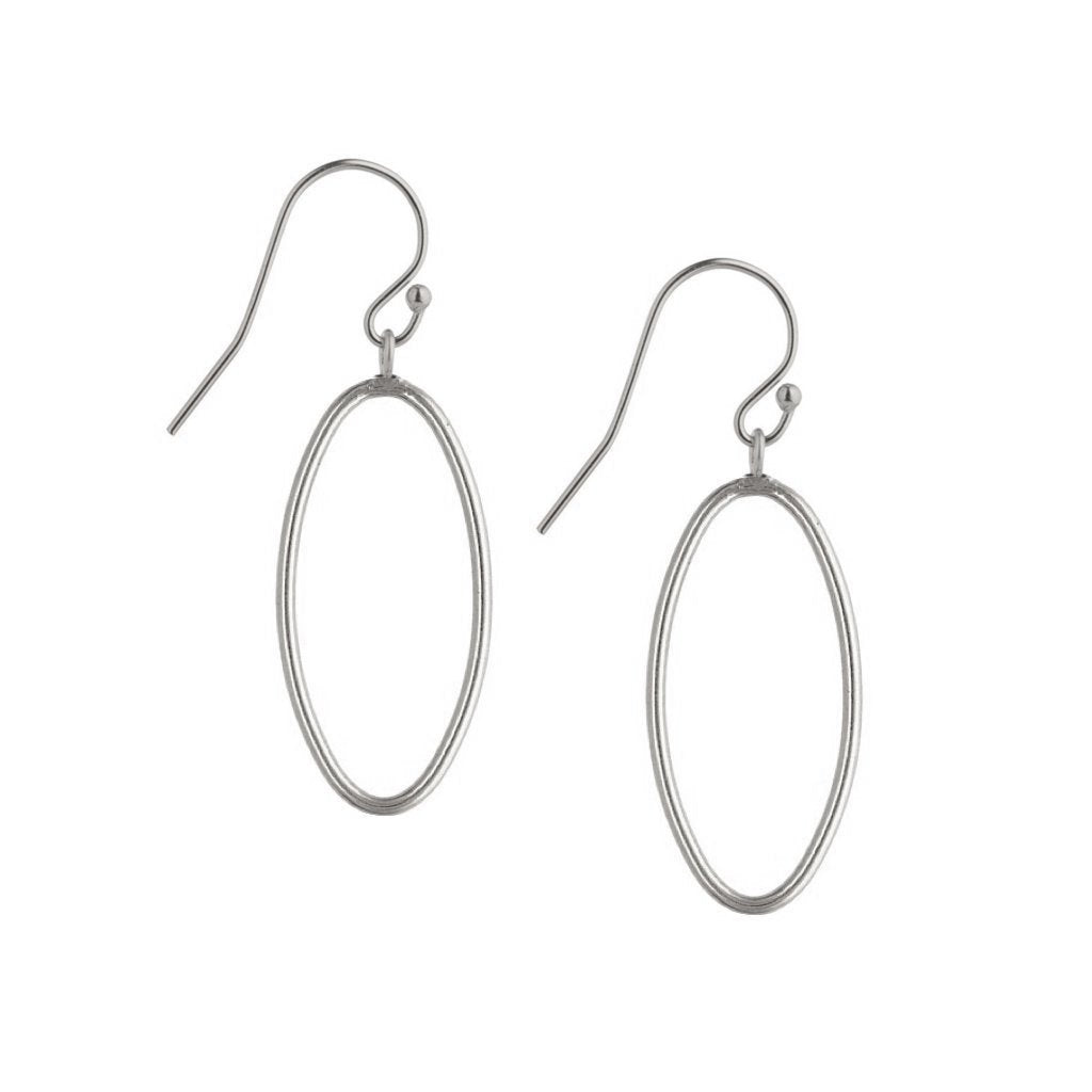 Minimal Oval Drop Earrings