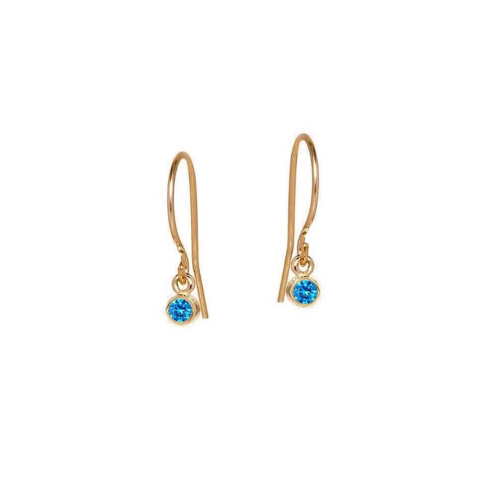 Little Sapphire Drop Earrings