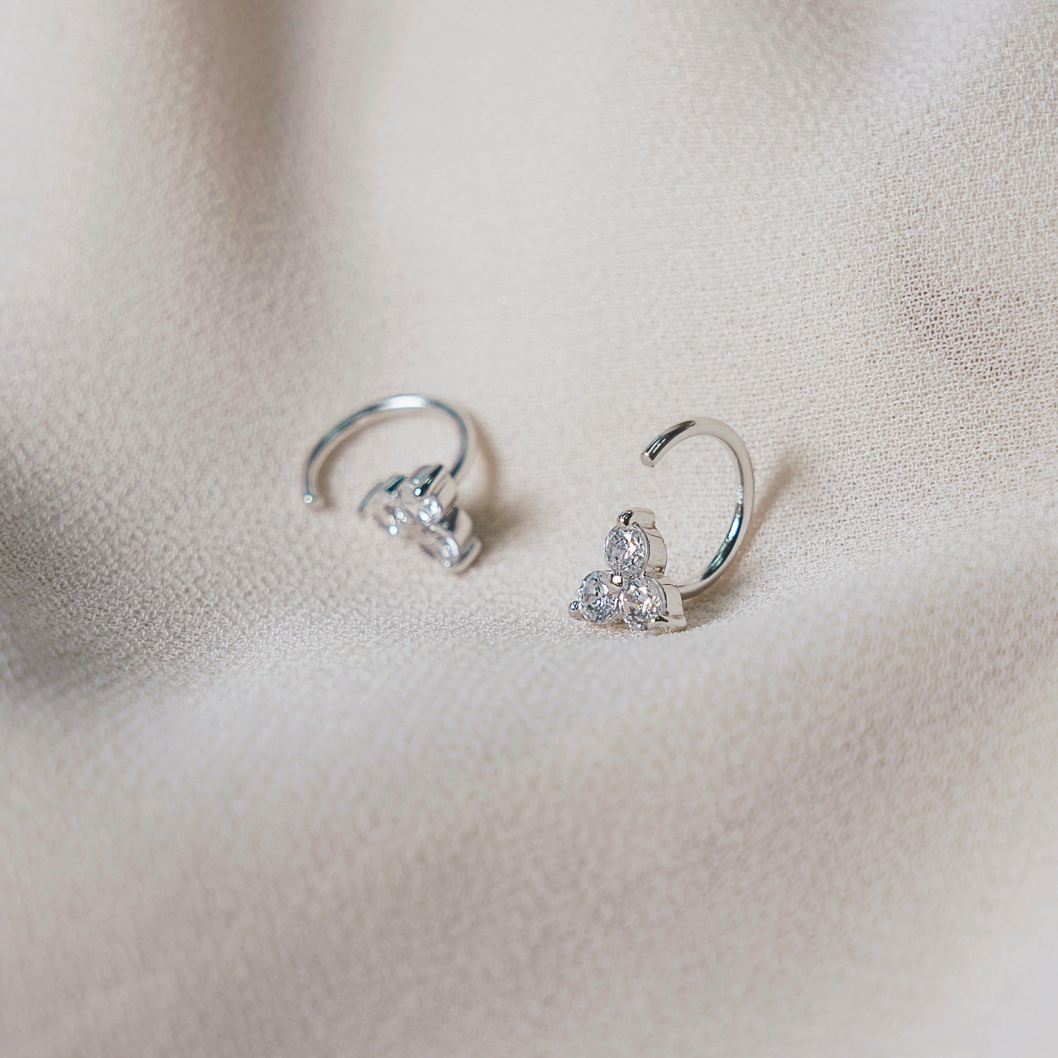 Sparkly Trio Huggies Earrings