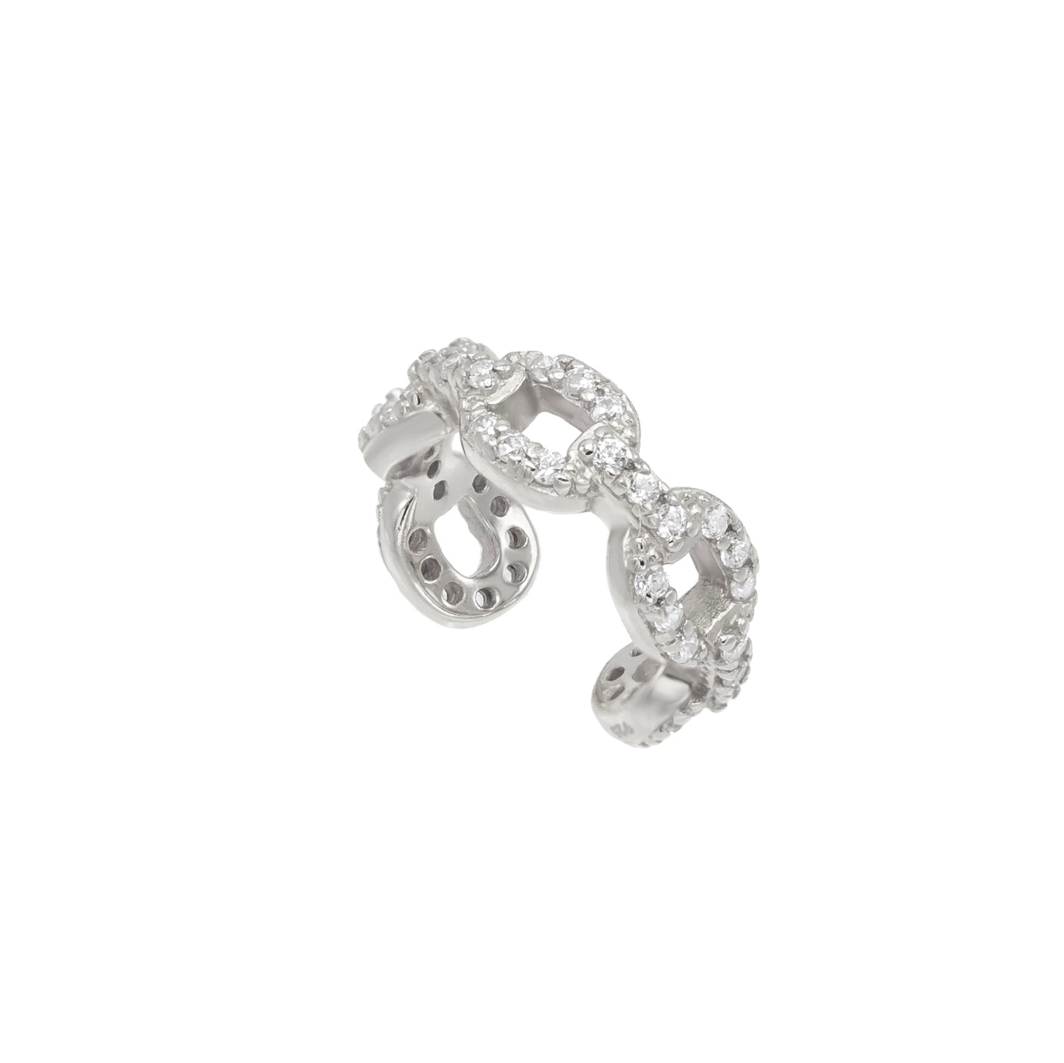Luxe Pave Chain Ear Cuff