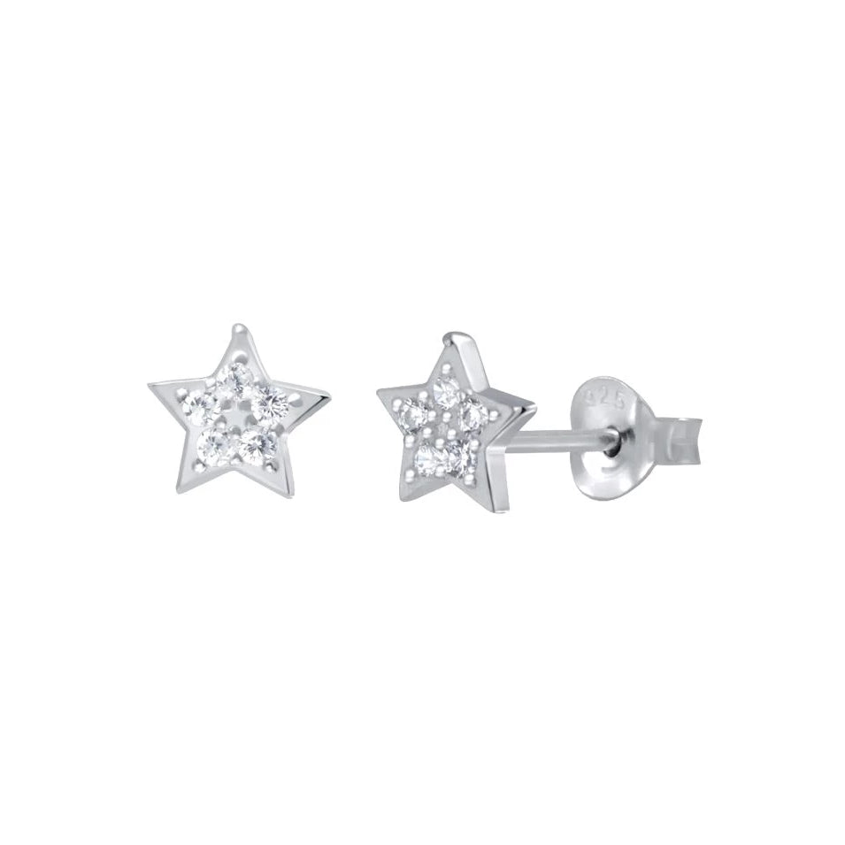 Sparkle Star Stud Earrings