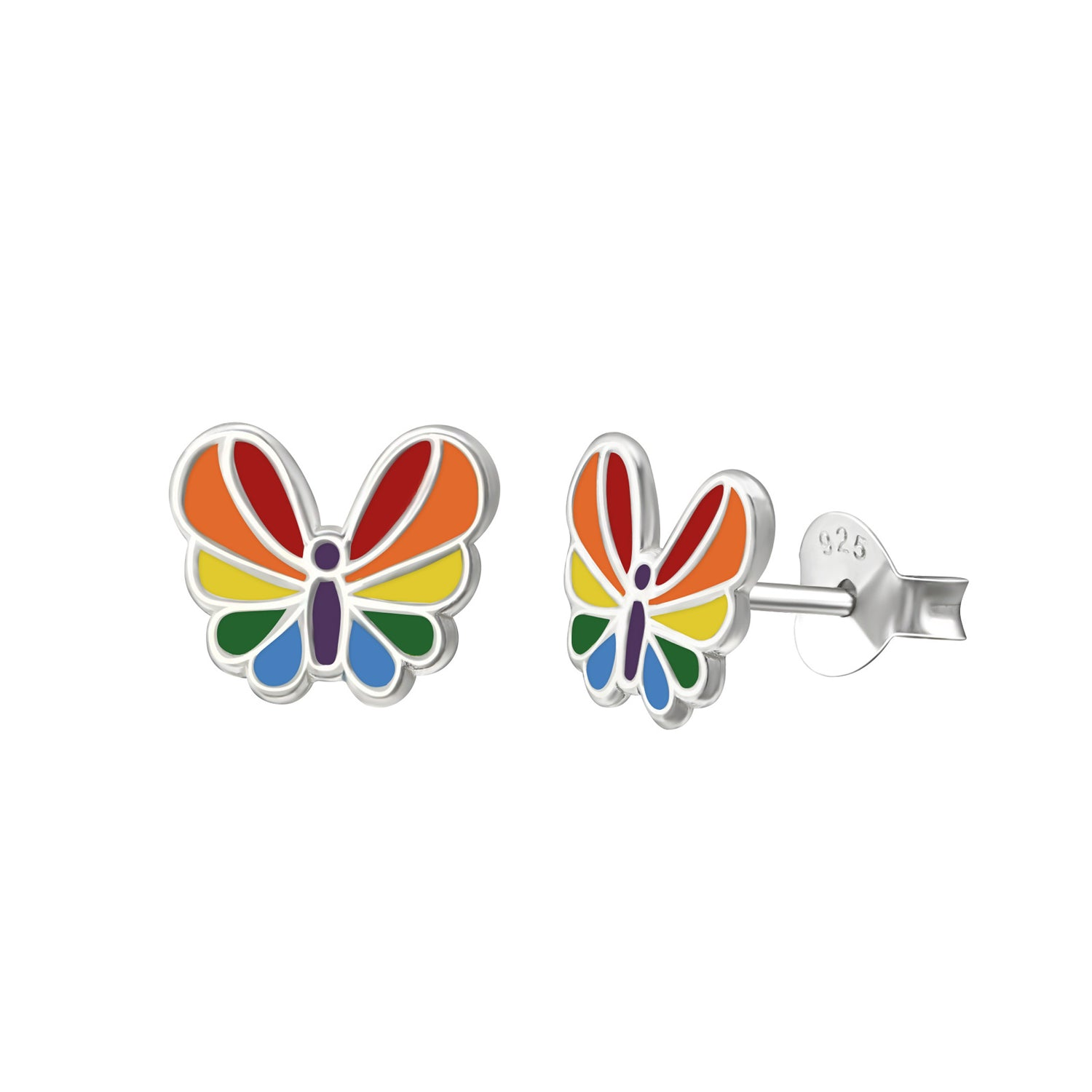 Colorful Butterfly Stud Earrings