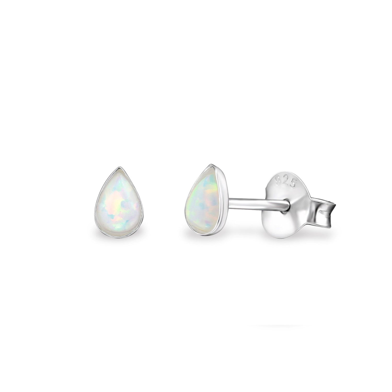 Mini Opal Droplet Stud Earrings