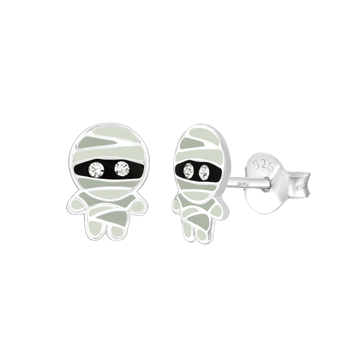 Egyptian Mummy Stud Earrings