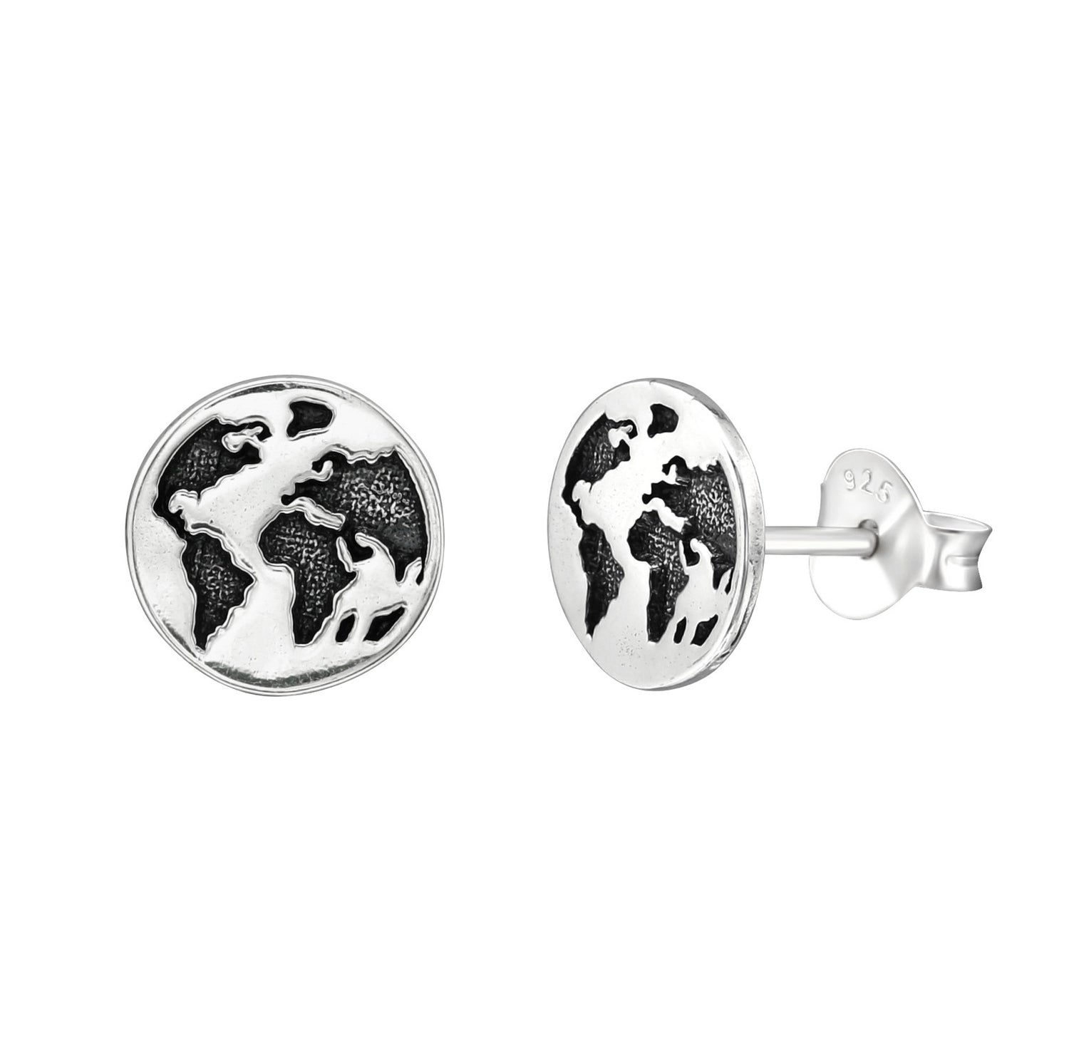 World Map Stud Earrings