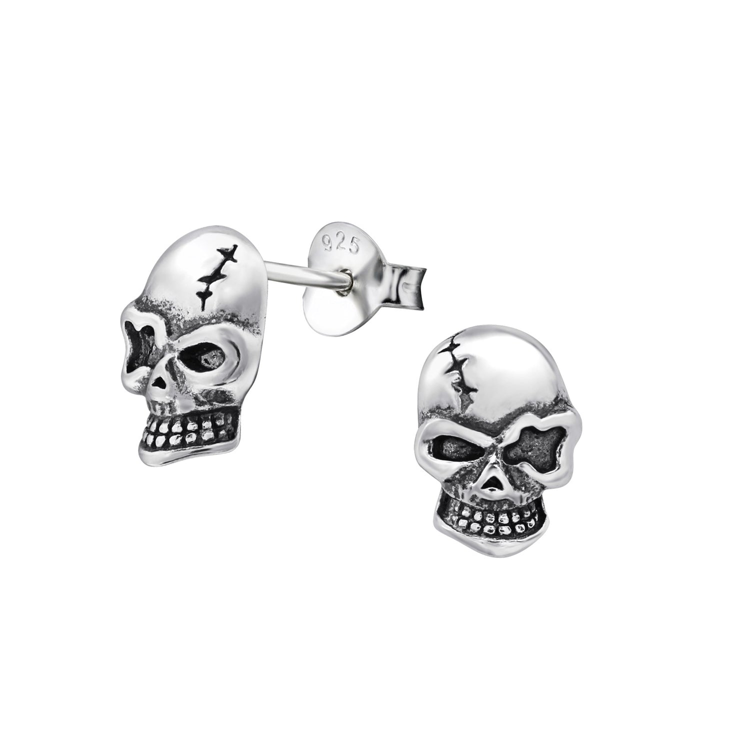 Gothic Skull Stud Earrings