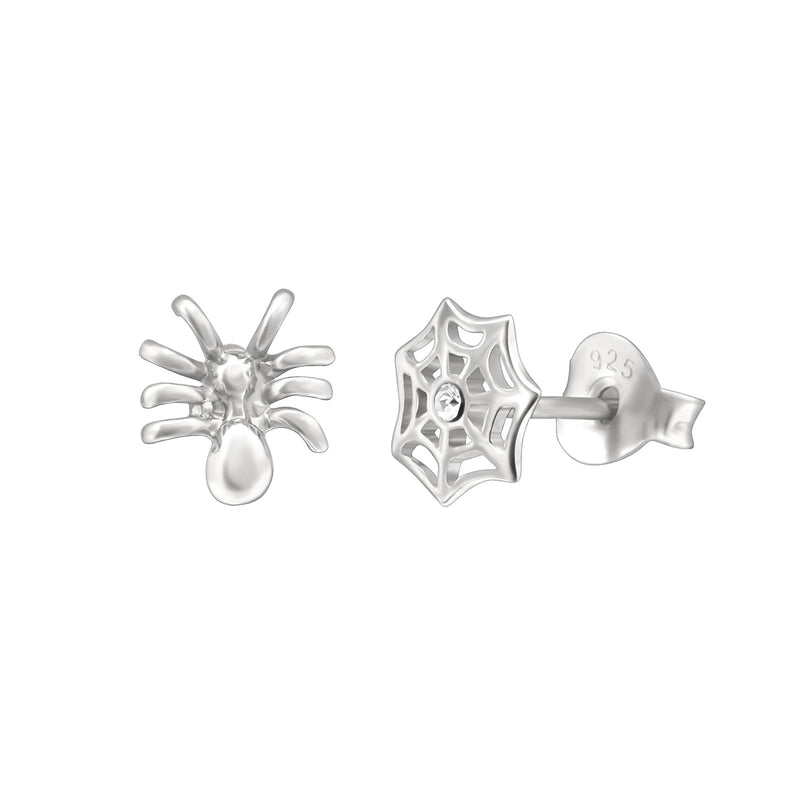 Web Spider Stud Earrings