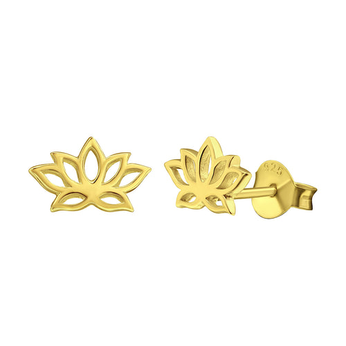 Yoga Lotus Stud Earrings