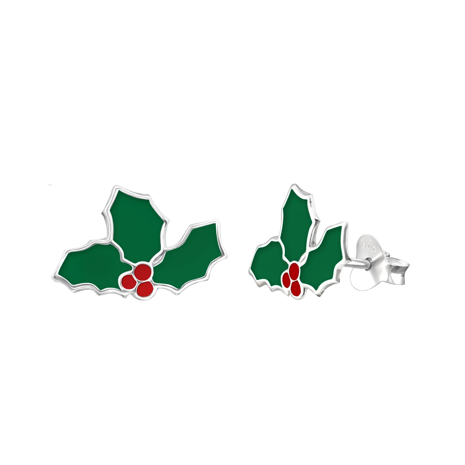 Holly Leaf Stud Earrings