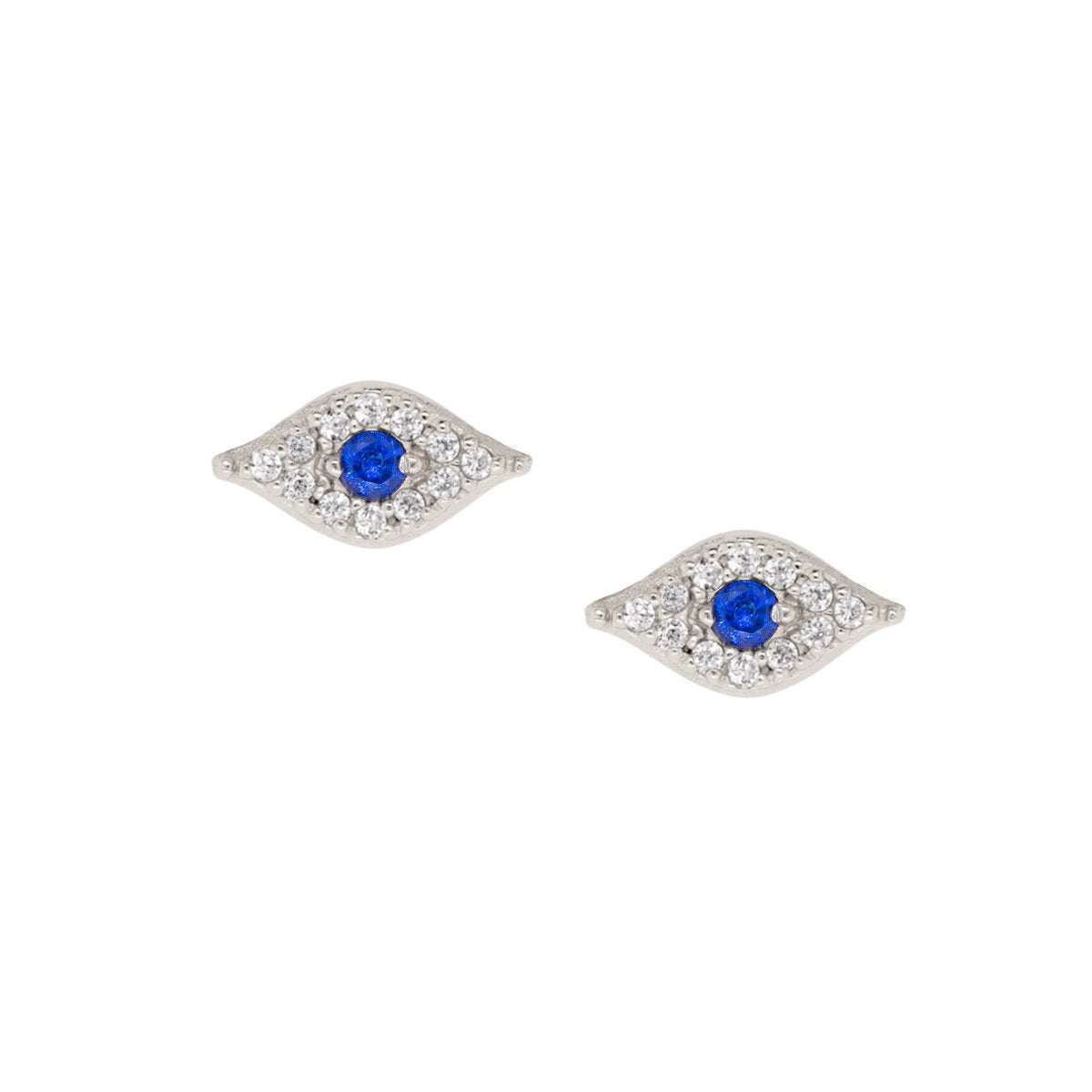 Sparkle Evil Eye Stud Earrings