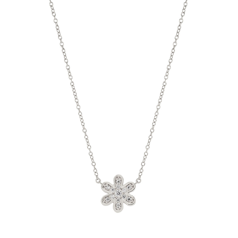Pave Daisy Necklace