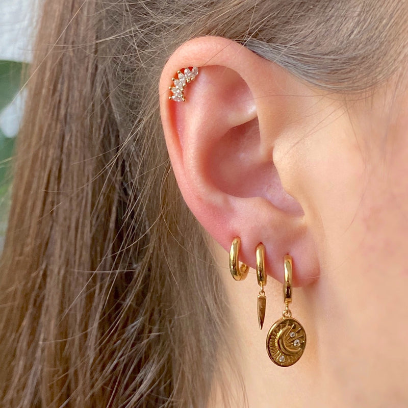 Little Dagger Huggies Earrings