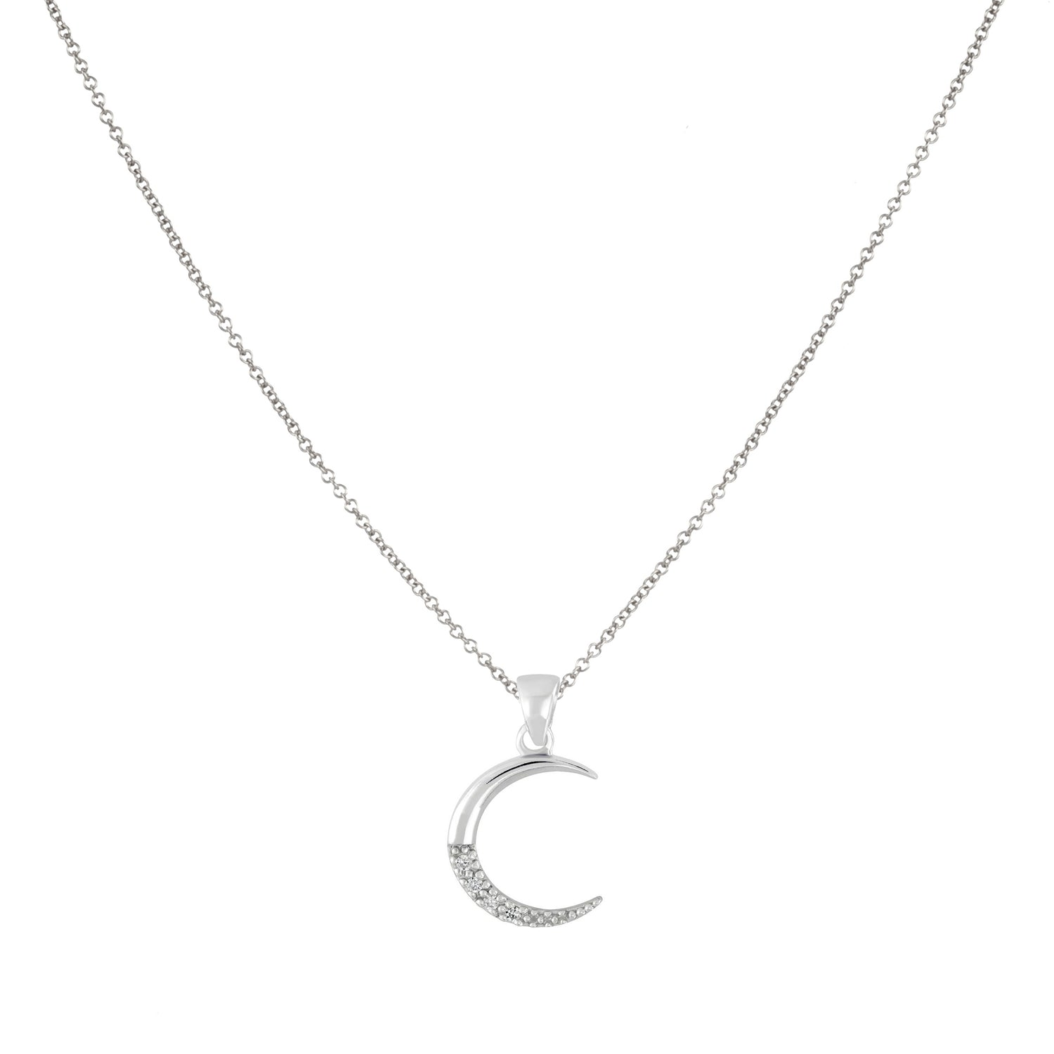 Luna Pave Moon Necklace