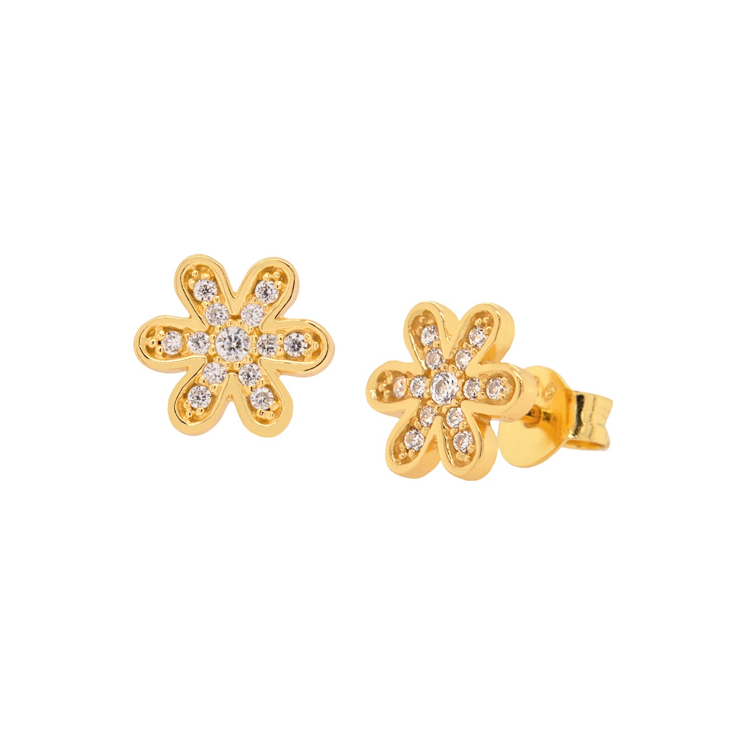 Pave Daisy Stud Earrings