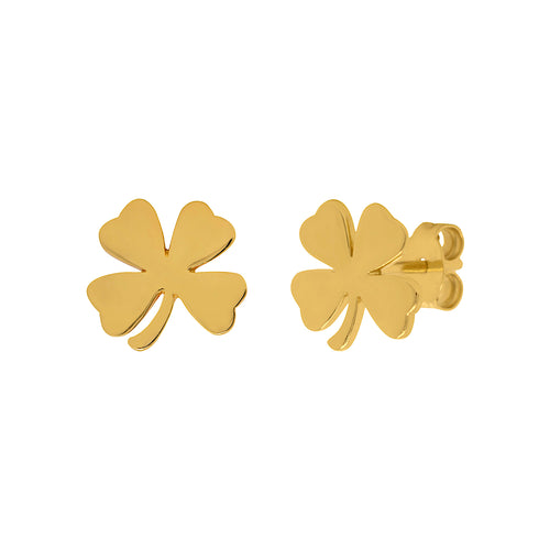 Shamrock Clover Stud Earrings