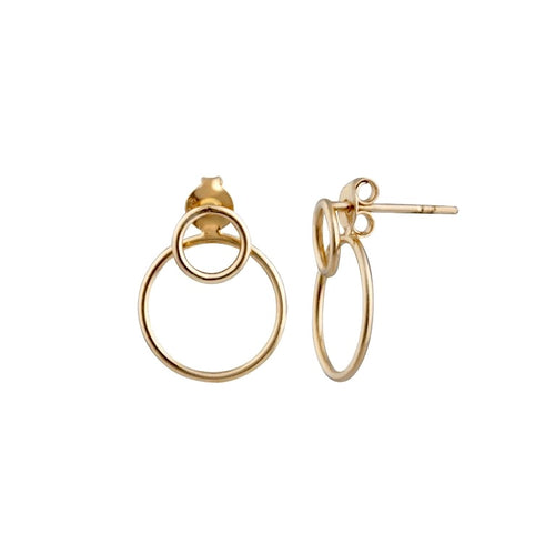 Chic Double Circle Ear Jacket