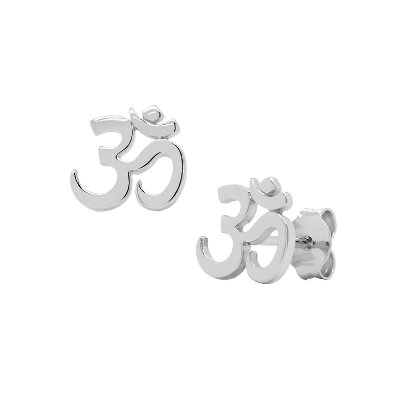 Yoga Om Stud Earrings