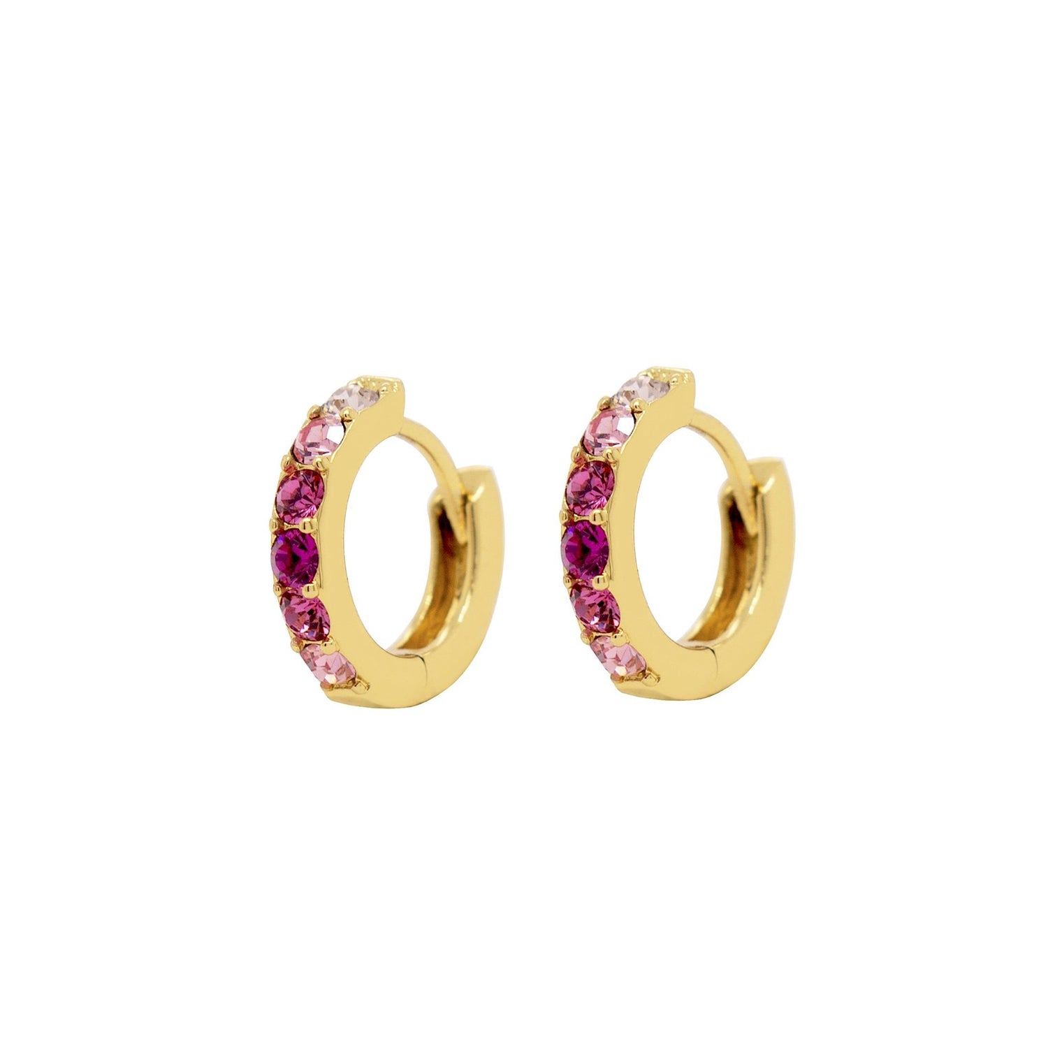 Pink Ombre Hoop Earrings