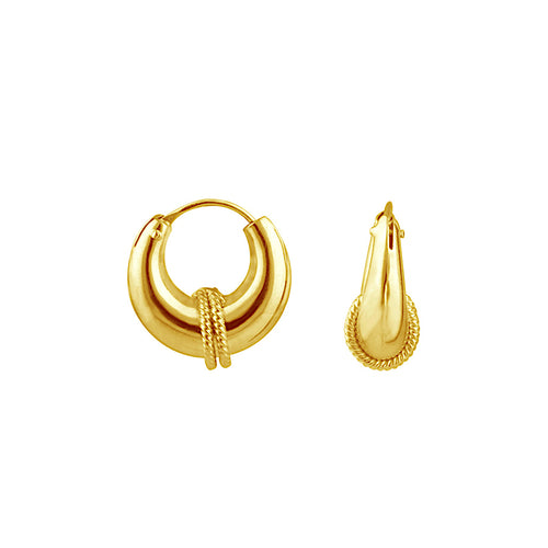 Small Bohemian Hoop Earrings
