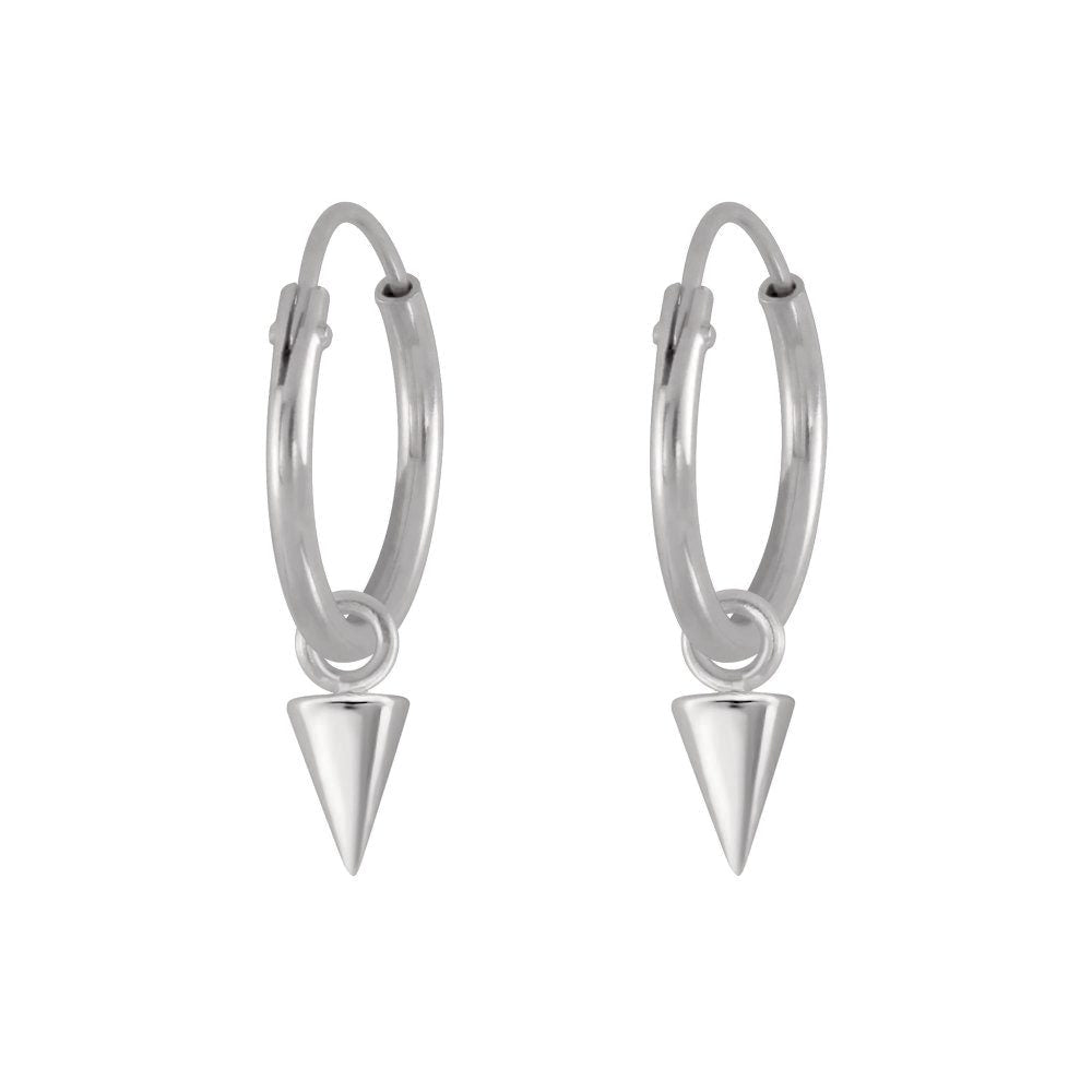 Little Spike Hoop Earrings
